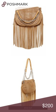 Ramy Brook Camile Fringe Messenger, Camel Suede Super cute messenger bag with fringe detail and silver chains. This bag can hold so much for it being petite! Worn a few times. Slight color transfer on the back. Comes with dustbag. Ramy Brook Bags Crossbody Bags