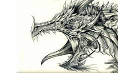 Images For > Cool Dragons Drawings