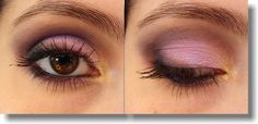 Purple, gold n black Make up