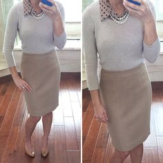 StylishPetite.com | Simple Work Outfit: Neutrals and Black