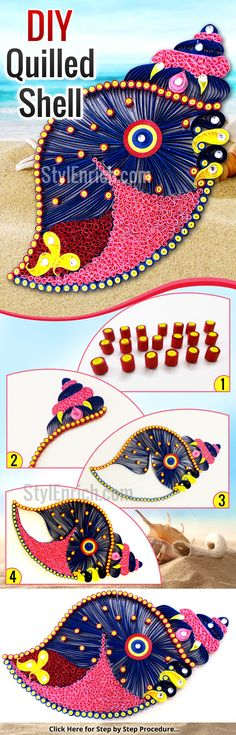 Want to explore your #QuillingCraft ideas? Here, I have brought for you awesome craft tutorial and #DIYRoomDecor Idea with Quilled Shell. It is one of the best home decoration idea made with quilling stripes. Just give it a try & give amazing DIY décor to your walls!