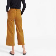 Women's Wide Leg Crop Utility Pant   Everlane  #everlane #croppant #affiliatelink   #sustainablefashion