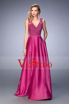 Vestido largo fuchsia nurseries