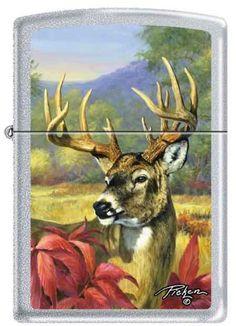 Zippo Linda Pickens Collection Buck Deer Head Lighter
