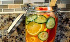 Prueba esta agua de toronja y mandarina si quieres bajar de peso. ¡Además es súper refrescante!