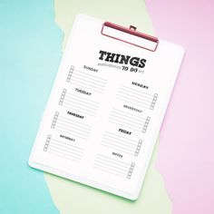 Free Printable Things To Do List - The Cottage Market