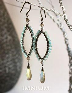earrings with briolette teardrop
