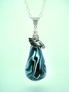 Custom Philadelphia Eagles Teardrop Charm by ClayWorksbyTRhoads, $26.00