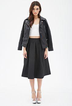 Quilted Midi Skirt   FOREVER 21 - 2000135523
