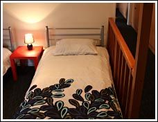 Haka Lodge, Christchurch. A step up in backpackers accommodation.  The dorm sleeps 7 people, but the beds are divided into 3 groups and separated with dividing walls. This gives you extra privacy – its almost like sharing a room with a friend!