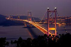 Tsing Ma Bridge (Hong Kong, Çin)