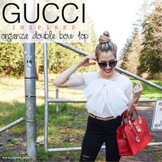 EASY Gucci inspired Organza Double Bow Top Tutorial