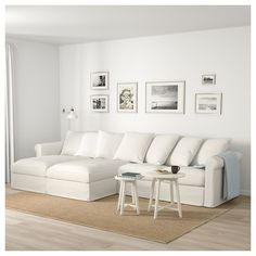 GRÖNLID sofa, with chaise longues/Inseros white, Height including back cushions: 104 cm - IKEA Sofa Cama Ikea, Ikea Sectional, White Sectional, Ikea Couch, White Couches, Living Room Sectional, White Couch Living Room, Sleeper Sectional, At Home Furniture Store