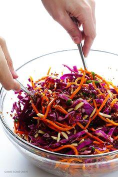 Easy Asian Quinoa Salad   gimmesomeoven.com