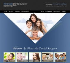 Riverside Dental Surgery in Kent www.smilekent.co.uk Dental Design, Dental Surgery, Cosmetic Dentistry, Portfolio Website