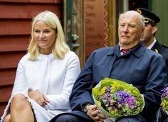 Crown Princess Mette-Marit attend a Garden Party in Bergen