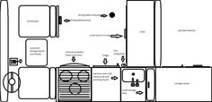 VW Bus interior layout - Image may have been reduced in size. Click image to view fullscreen.