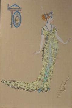 ERTÉ | Ganna Walska en Tosca, Acto I, Chicago Opera Company, 1920