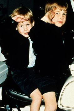 Prince Harry & Prince William    Aaaawwww!!! Such cute little boys who grew up to be such handsome men.