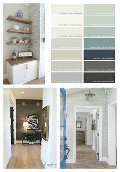 Readers' Favorite Paint Colors Indoor Paint Colors, Coastal Paint Colors, Grey Paint Colors, Paint Colors For Home, Paint Colors For Living Room, Best Interior Paint, Interior Paint Colors, Home Interior Design, Interior Painting