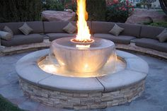 Fountain fireplace=awesome!