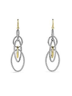 David Yurman - Mobile Large Link Earrings with Gold