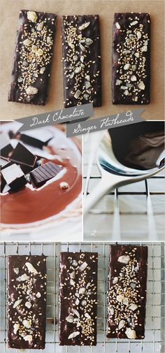 Easy Healthy Holiday Recipe | Dark Chocolate & Ginger Flatbreads  #BeMerryandLite