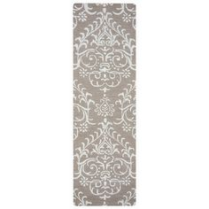 Arden Loft Hand-tufted Brown Geometric  Falmouth Fields Collection Wool Area Rug (2'6 x 10')