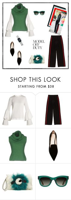 """""""Olivia Palermo Looks Sporty Chic During London Fashion Week♥♥♥"""" by marthalux ❤ liked on Polyvore featuring Galvan, Ermanno Scervino, Nicholas Kirkwood, Anya Hindmarch, TOMS, Philip Stein, StreetStyle, LFW, OliviaPalermo and modeloffduty"""