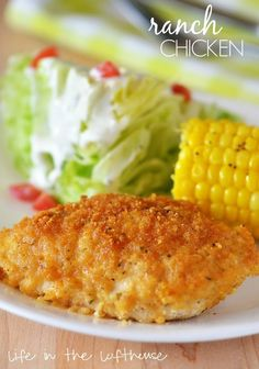 Ranch Chicken. Crispy, delicious and so flavorful. Best of all it's baked not fried!