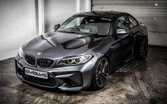 BMW M2 Coupe, 2016, Black M2, Black F87, sports car, tuning BMW M2