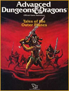 Githyanki raiders from the astral plane.  (Jeff Easley cover of AD&D OP1: Tales of the Outer Planes, supplement with over 2 dozen short adventures and encounters, TSR, 1988.)