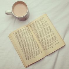 Coffee with a book.