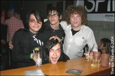Left to Right: Gerard, Mikey, Bert, (Unknown)
