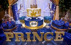 New baby shower boy prince birthday party ideas ideas Royal Baby Shower Theme, Baby Shower Cakes For Boys, Boy Baby Shower Themes, Baby Boy Shower, Royal Baby Party, Gold Baby Showers, Prince Birthday Theme, Baby Boy 1st Birthday Party, Royal Birthday Parties