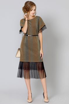 knit and sheer dress Modest Fashion, Boho Fashion, Fashion Dresses, Fashion Looks, Womens Fashion, Fashion Design, Fashion Trends, Sheer Dress, Dress Skirt