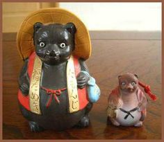 Edo town and Edo Jidai History haiku kigo season words saijiki Daruma WKD amulets talismans Racoon, Japanese Raccoon Dog, Sado Island, Japanese Legends, Tokushima, Badger, Spirit Animal, Deities, Japanese Art