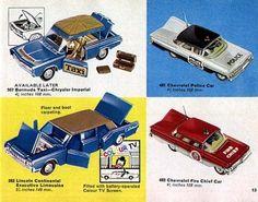 Retro Toys, Vintage Toys, James Bond, Beatles, Chrysler Imperial, Corgi Toys, Mattel, Vintage Models, Brochures