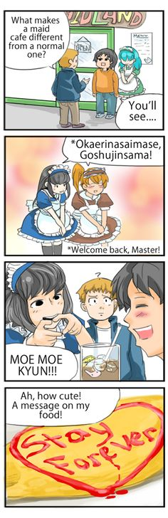What happens at maid cafes