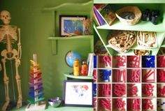 Montessori and Reggio inspired small playroom setup from An Everyday Story A New Home & A New Playroom