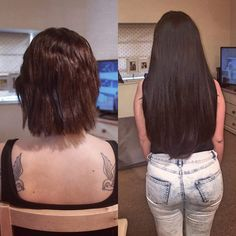 From a bob to long locks. Loved transforming Jade Royle Tingey-Chatterton's hair for her tonight. 180 grams of 20 inch Nano rings <3   #nanorings #hairextensions #oxford #hairextensionsoxford #http://www.jennisonbeautysupply.com/  ,#hairinspo #longhair #hairextensions #clipinhairextensions #humanhair #hairideas #hairstyles #extensions #prettyhair  #clipinhairextensions #hairextensions #longhairgoals #hairextensionsspecialist #queenbhairextensions  virgin human hair wigs/hair extensions/lace…