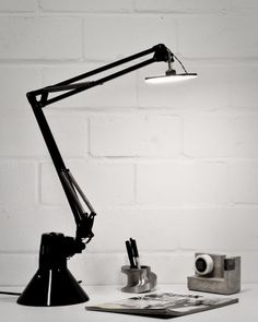 The classic Anglepoise lamp, turned on its head to accommodate current light tech. Cute.
