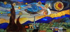 barneysglass: Starry Night interpreted in stained glass