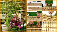 10 Easy Yet Beautiful DIY Garden Trellis Projects 6 10 Easy Yet Beautiful DIY Garden Trellis Project Bamboo Trellis, Diy Trellis, Garden Trellis, Backyard Garden Landscape, Big Garden, Easy Garden, Balcony Garden, Diy Pergola, Pergola Design