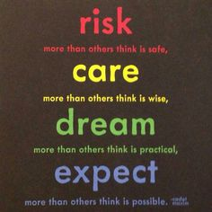 Risk care dream  expect
