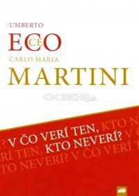 Dialóg dvoch významných mužov 20. a 21. storočia. Vynikajúci teológ, kardinál Carlo Maria Martini a svetový autor klasickej literatúry Umberto Eco. Kniha V čo verí ten, kto neverí?