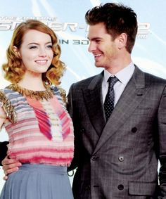 Emma Stone and Andrew Garfield, The Amazing Spider Man 2 Premiere Berlin 2014
