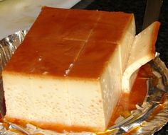 Quesillo Prepared like flan, tastes like cheesecake. A traditional homemade Cuban favorite! Cuban Desserts, Mexican Food Recipes, Sweet Recipes, Delicious Desserts, Dessert Recipes, Yummy Food, Cuban Bread, Cuban Dishes, Cuban Cuisine