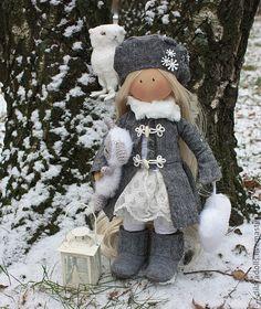 Человечки ручной работы. Ярмарка Мастеров - ручная работа текстильная кукла `ЭЛЛИС. Handmade.