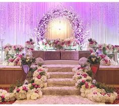 24 Gorgeous Wedding Stage Decoration Ideas & Themes That Will Leave You Speechless! 24 Gorgeous Wedding Stage Decoration Ideas & Themes That Will Leave You Speechless!This Wedding Season Let's Create Magic With Dazzling Debut Decorations, Hanging Wedding Decorations, Engagement Decorations, Indian Wedding Decorations, Wedding Themes, Debut Stage Decoration, Backdrop Decorations, Wedding Ideas, Flower Decorations